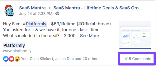 Lifetime deal comments