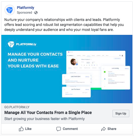 Facebook Ads for CRM