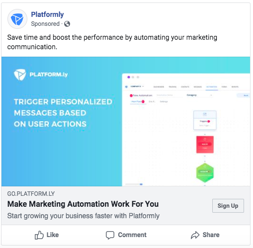Facebook ads for marketing automation